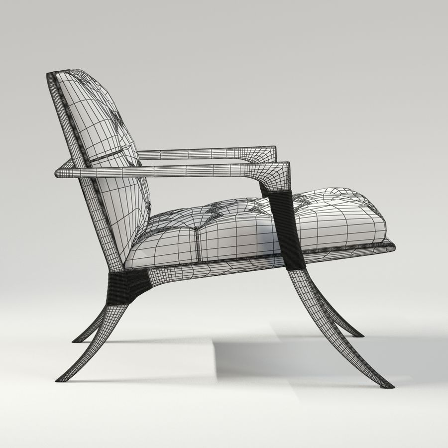 ATHENS LOUNGE CHAIR - TUFTED royalty-free 3d model - Preview no. 9