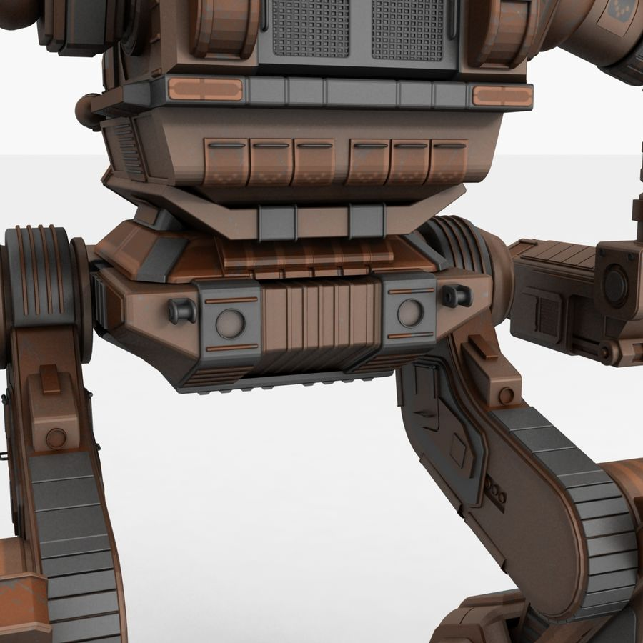 Mech Warrior Robot royalty-free 3d model - Preview no. 17