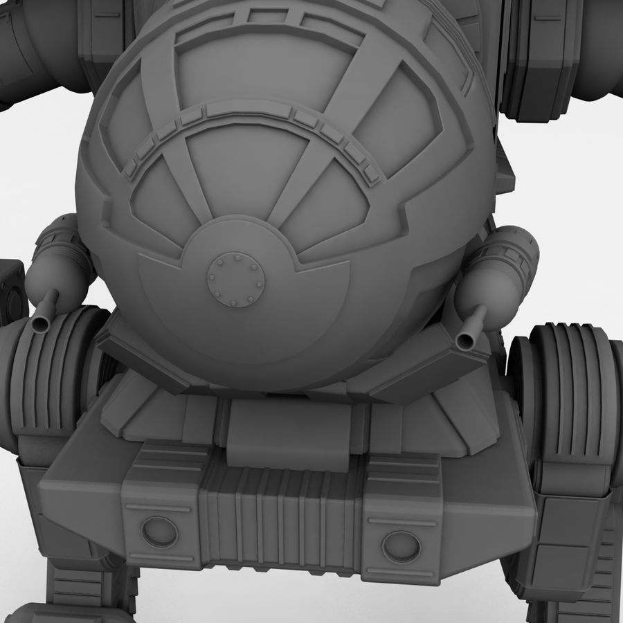 Mech Warrior Robot royalty-free 3d model - Preview no. 21