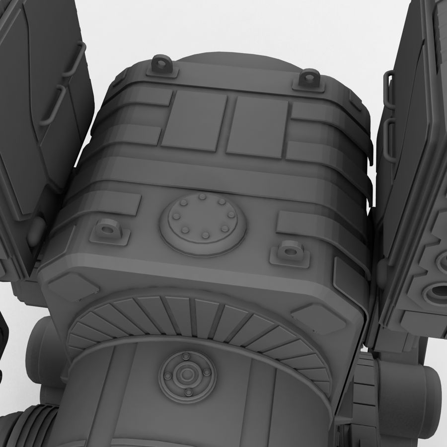 Mech Warrior Robot royalty-free 3d model - Preview no. 22