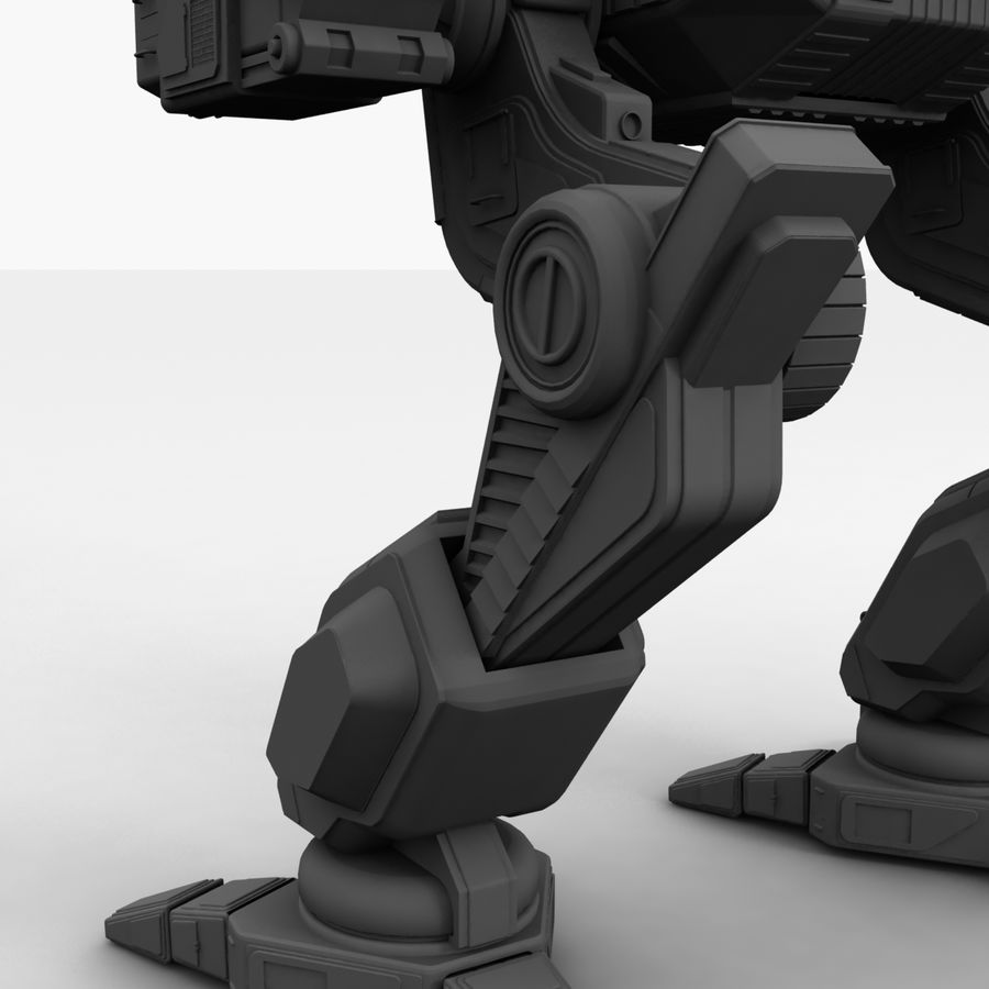 Mech Warrior Robot royalty-free 3d model - Preview no. 33
