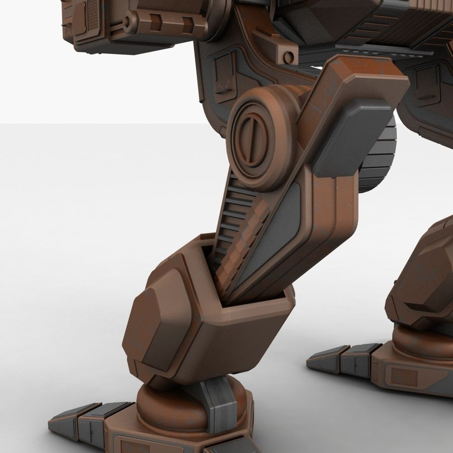 Mech Warrior Robot royalty-free 3d model - Preview no. 14