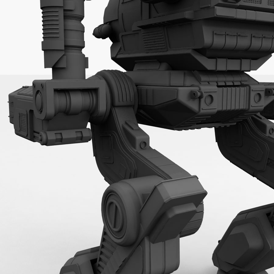 Mech Warrior Robot royalty-free 3d model - Preview no. 34