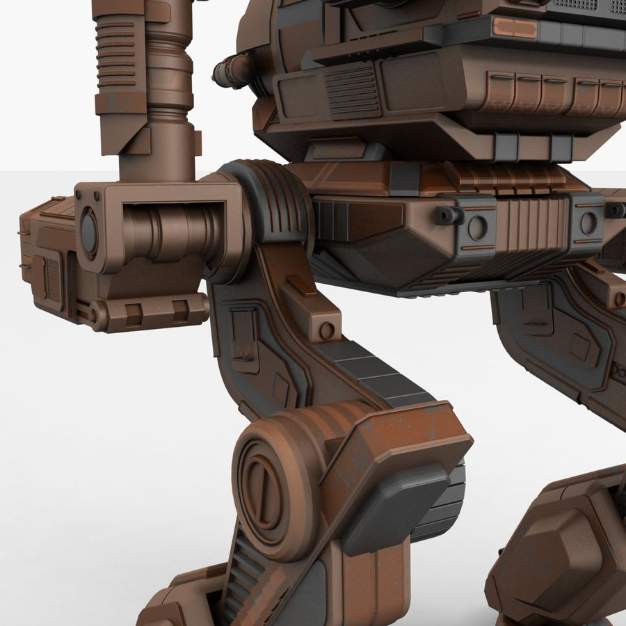 Mech Warrior Robot royalty-free 3d model - Preview no. 15
