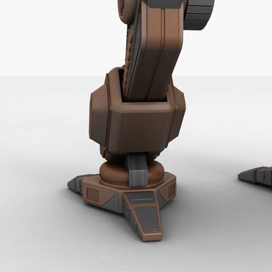 Mech Warrior Robot royalty-free 3d model - Preview no. 13