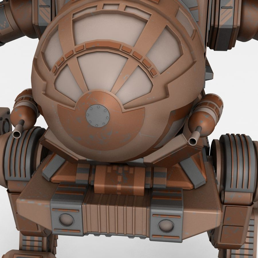 Mech Warrior Robot royalty-free 3d model - Preview no. 2