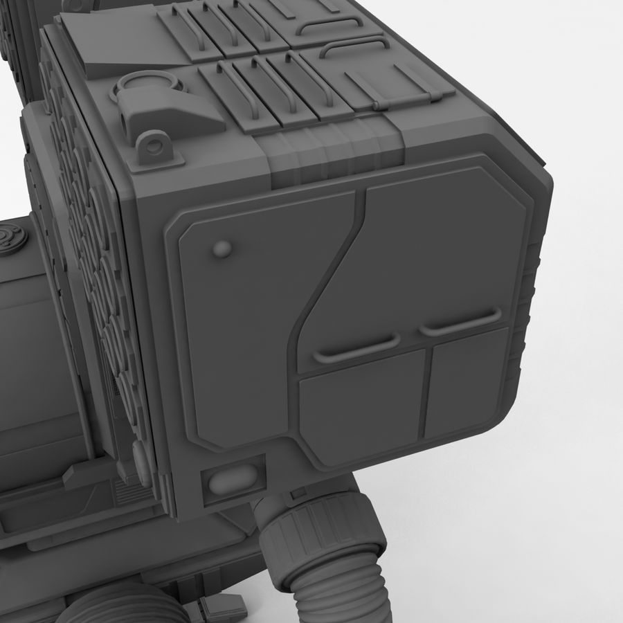 Mech Warrior Robot royalty-free 3d model - Preview no. 25