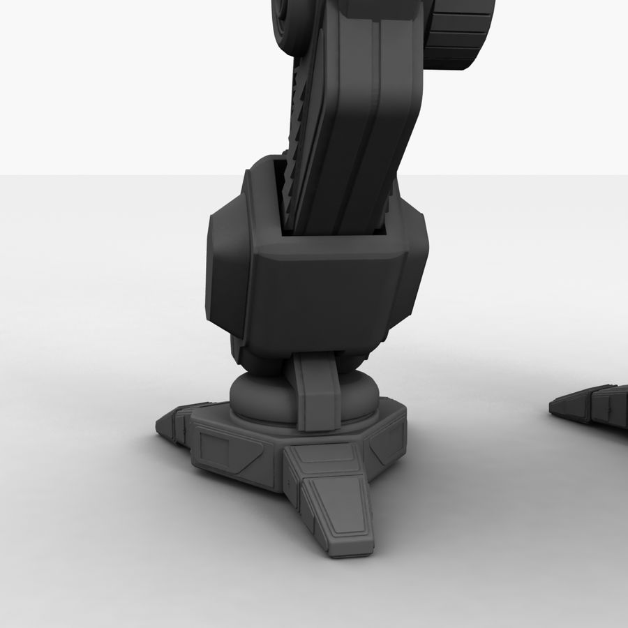 Mech Warrior Robot royalty-free 3d model - Preview no. 32