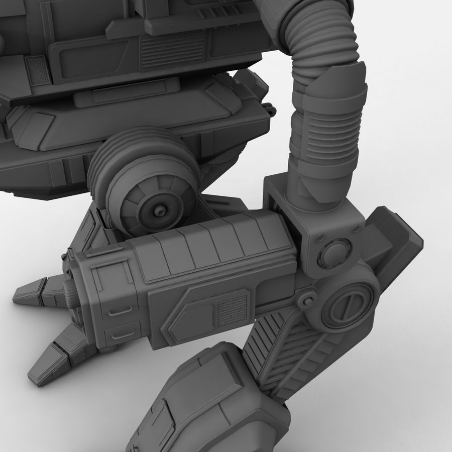 Mech Warrior Robot royalty-free 3d model - Preview no. 26