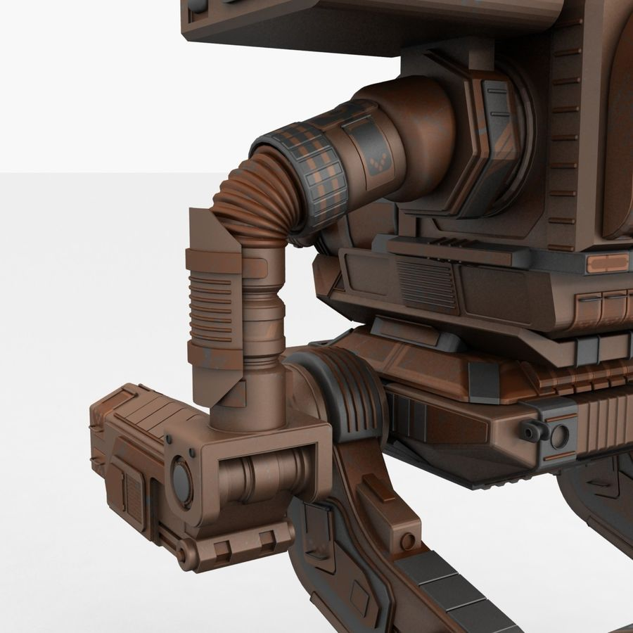 Mech Warrior Robot royalty-free 3d model - Preview no. 16