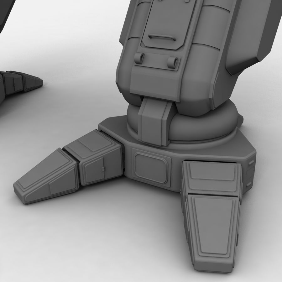 Mech Warrior Robot royalty-free 3d model - Preview no. 31