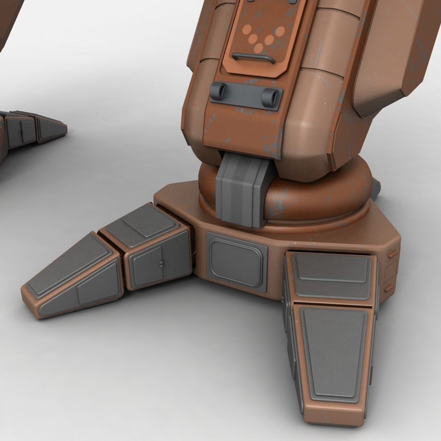 Mech Warrior Robot royalty-free 3d model - Preview no. 12
