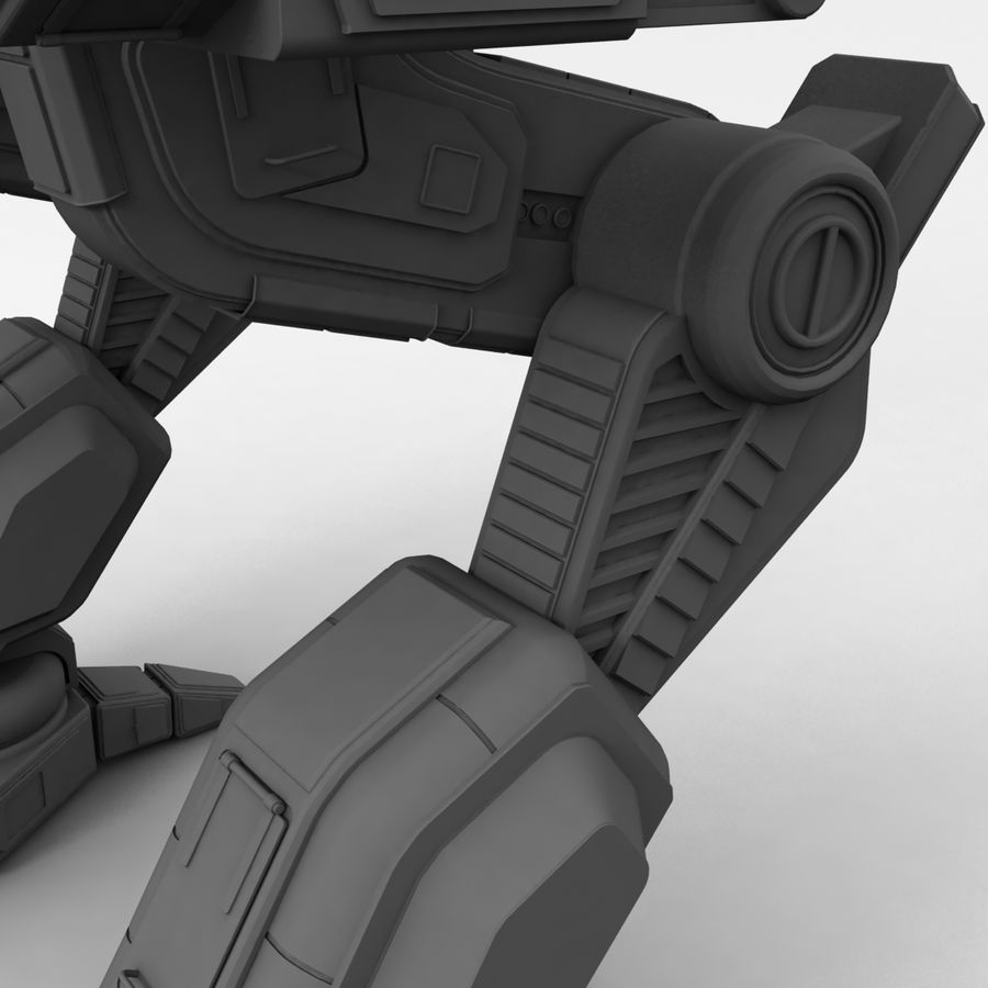 Mech Warrior Robot royalty-free 3d model - Preview no. 29