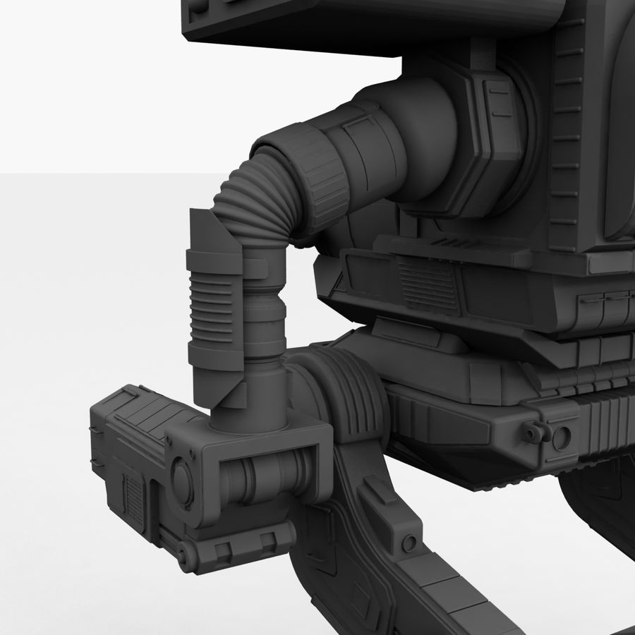 Mech Warrior Robot royalty-free 3d model - Preview no. 35