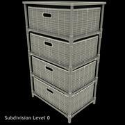Drawer Canvas Storage 3d model
