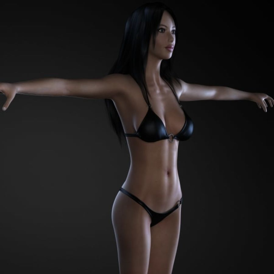 Girl 1 royalty-free 3d model - Preview no. 2