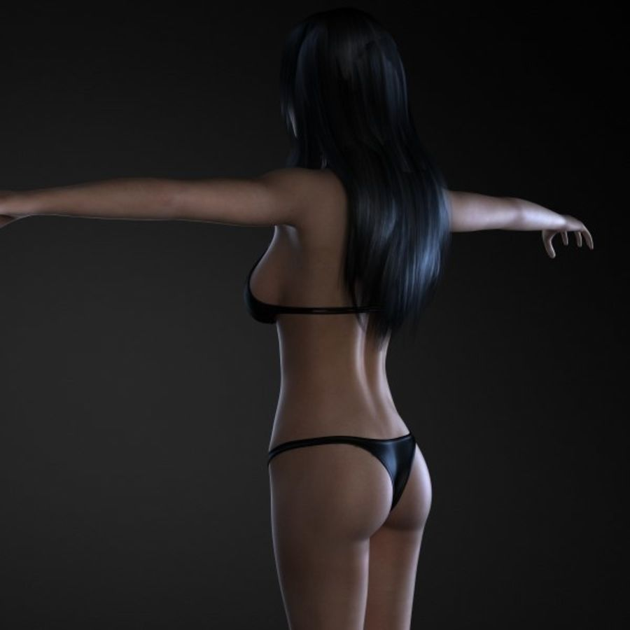 Girl 1 royalty-free 3d model - Preview no. 6