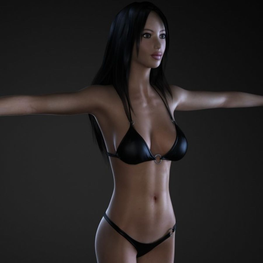 Girl 1 royalty-free 3d model - Preview no. 1