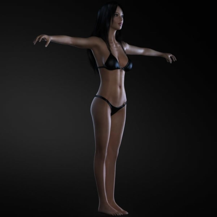 Girl 1 royalty-free 3d model - Preview no. 3