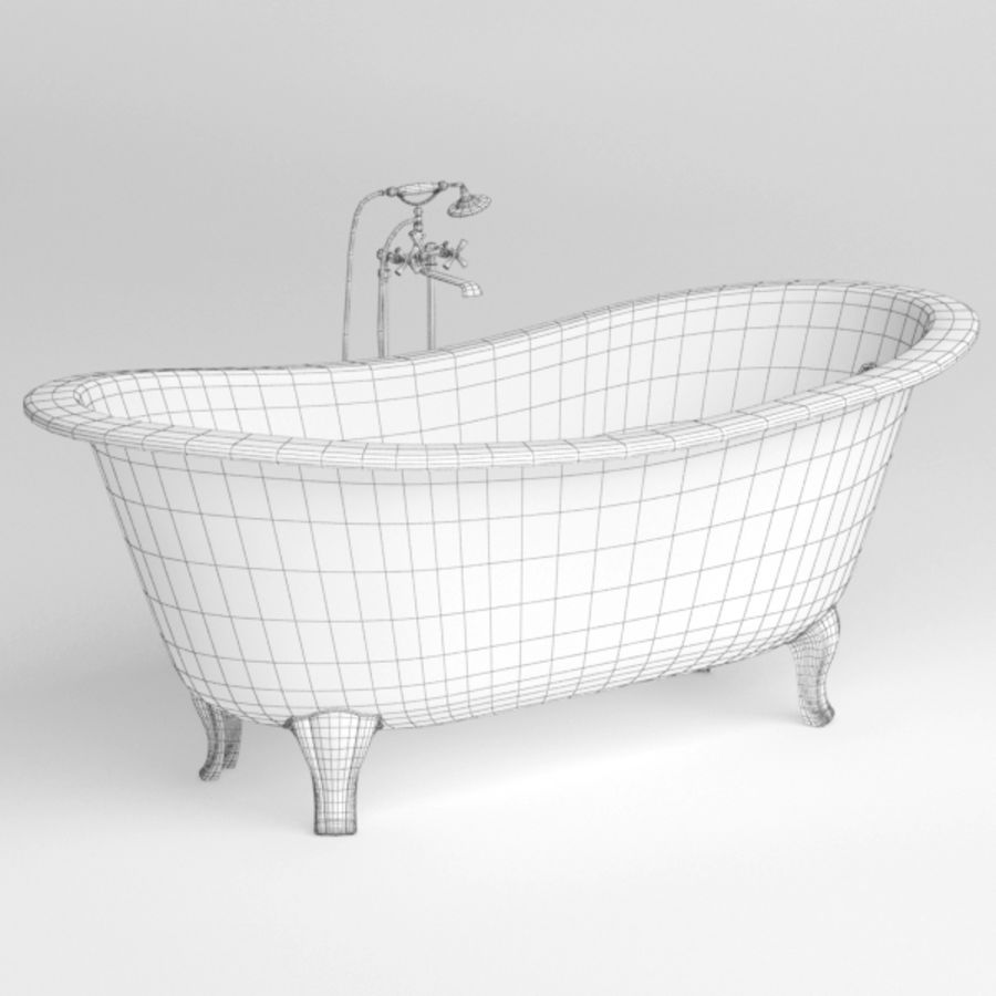 Bath royalty-free 3d model - Preview no. 7