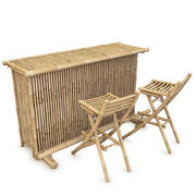Bamboo Bar Counter 3d model