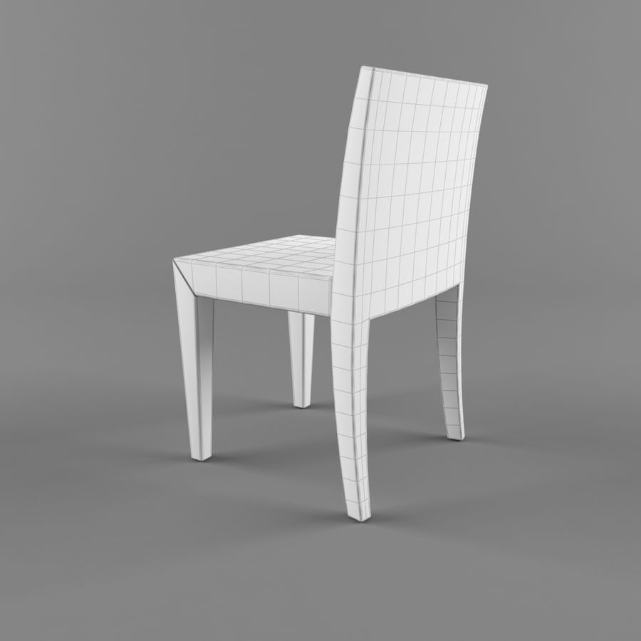하얀 의자 식사 royalty-free 3d model - Preview no. 6