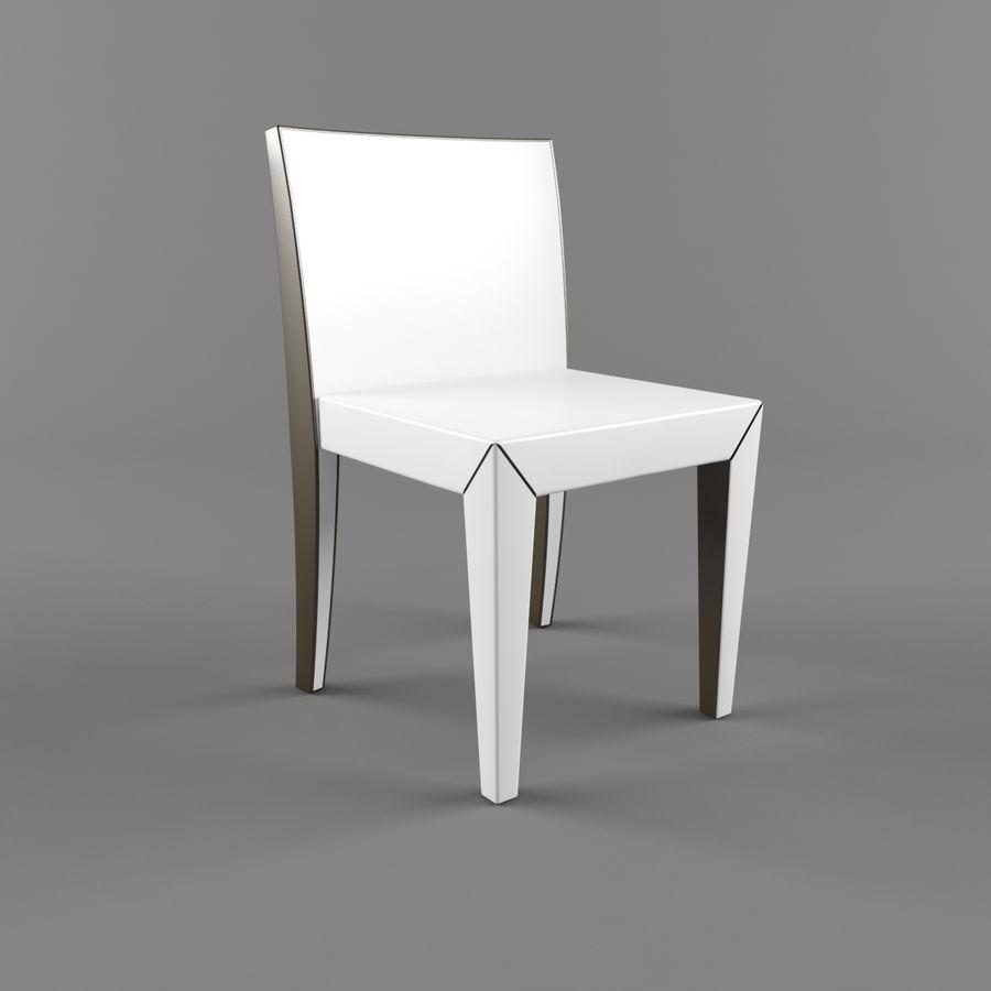 하얀 의자 식사 royalty-free 3d model - Preview no. 1