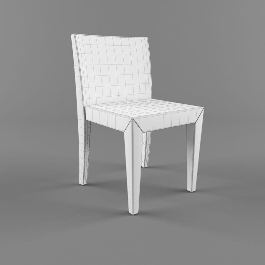 하얀 의자 식사 royalty-free 3d model - Preview no. 2