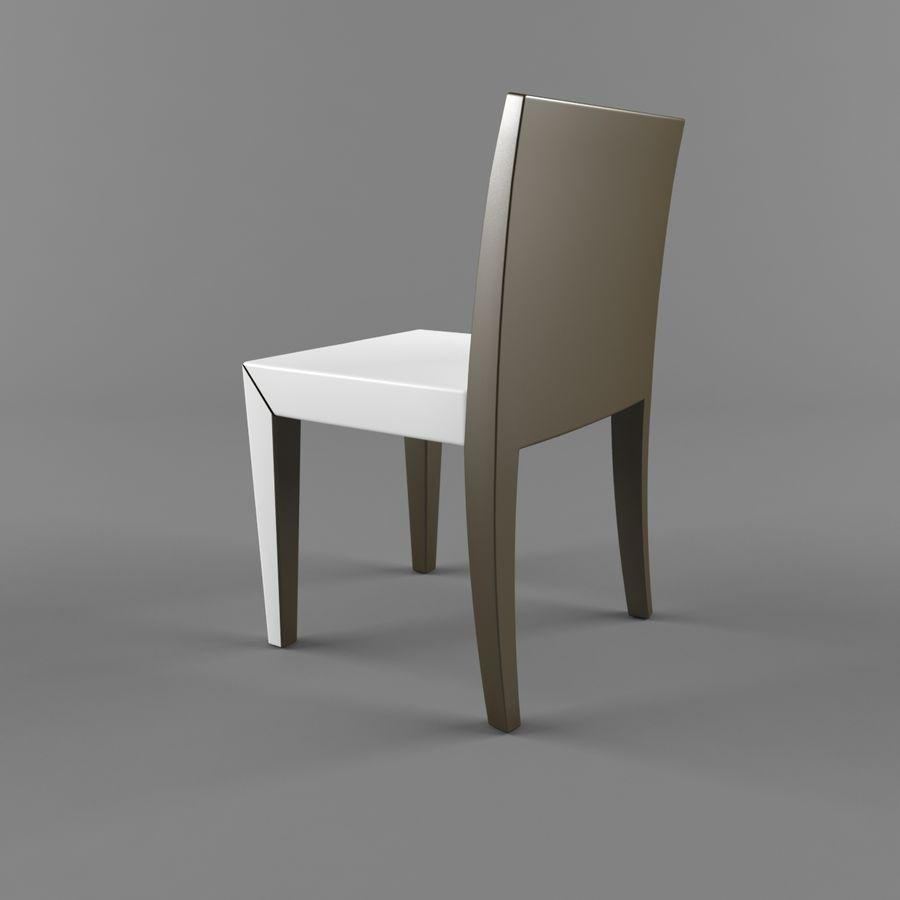 하얀 의자 식사 royalty-free 3d model - Preview no. 5