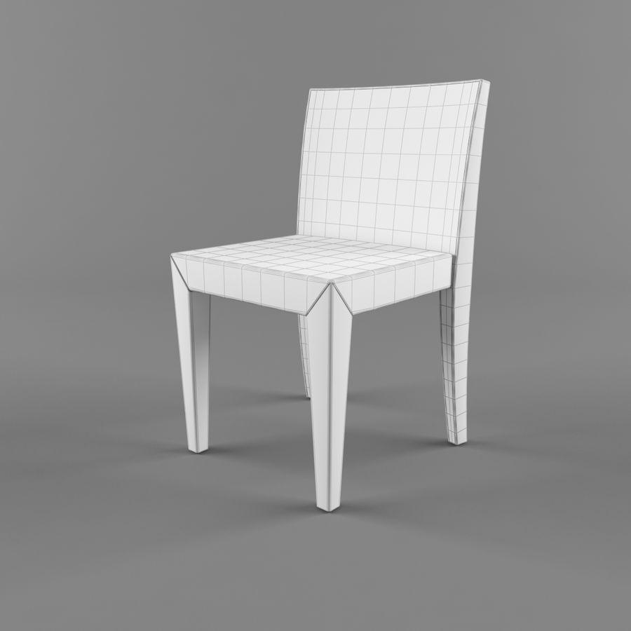 하얀 의자 식사 royalty-free 3d model - Preview no. 4