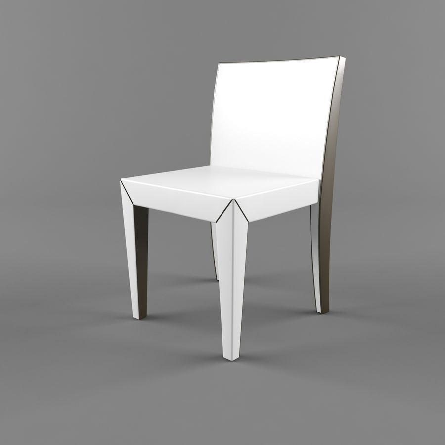 하얀 의자 식사 royalty-free 3d model - Preview no. 3