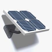Wall Mounted Solar Panel 3d model