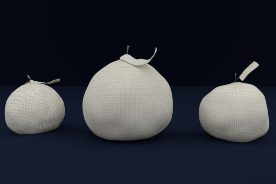 Oranges royalty-free 3d model - Preview no. 3