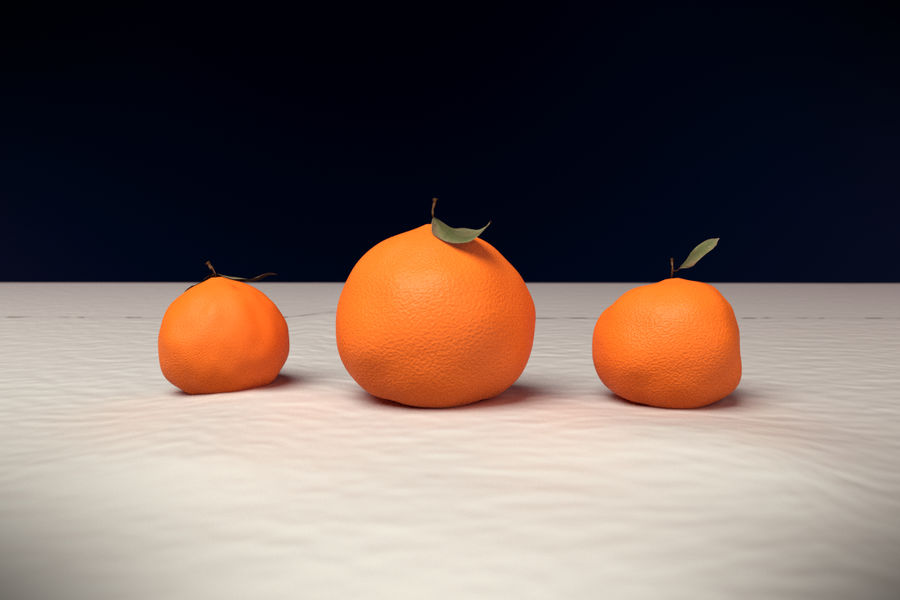 Oranges royalty-free 3d model - Preview no. 1