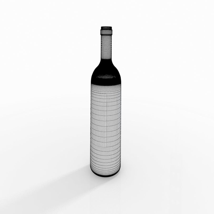 Wine Bottle royalty-free 3d model - Preview no. 4