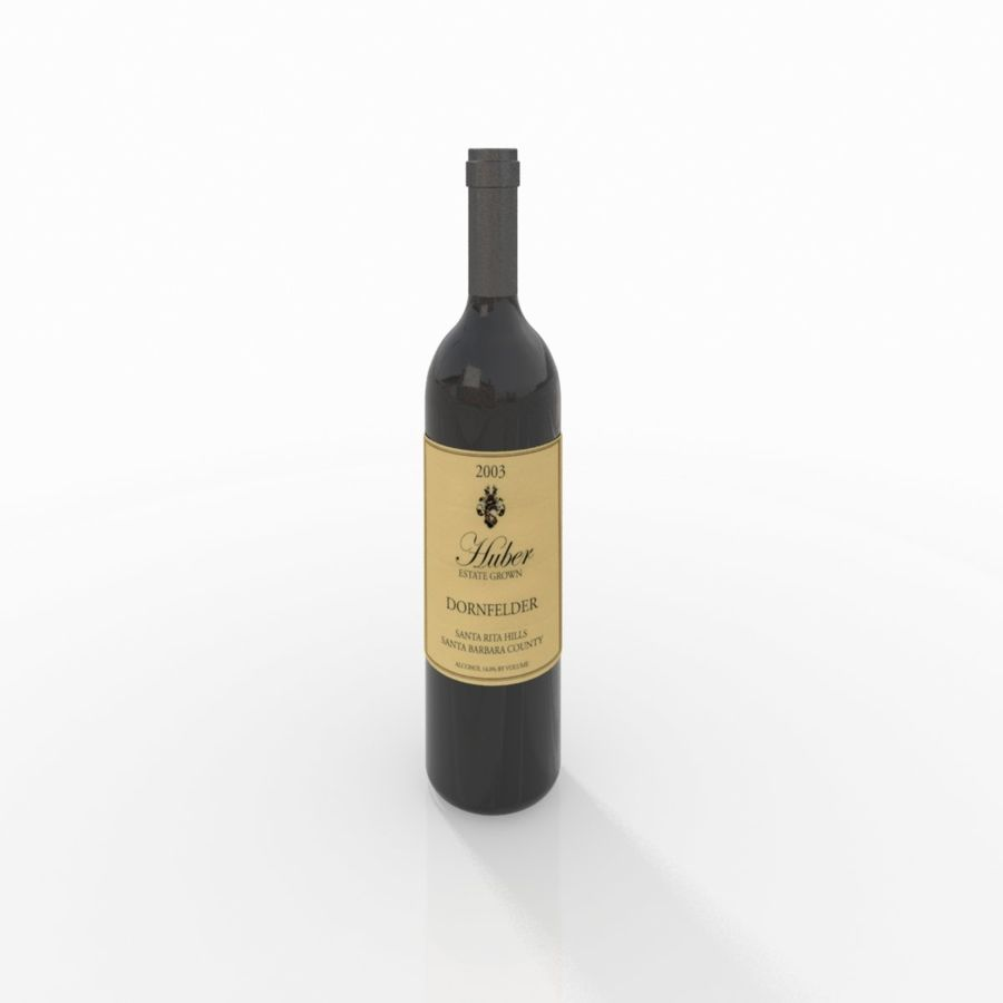 Wine Bottle royalty-free 3d model - Preview no. 8