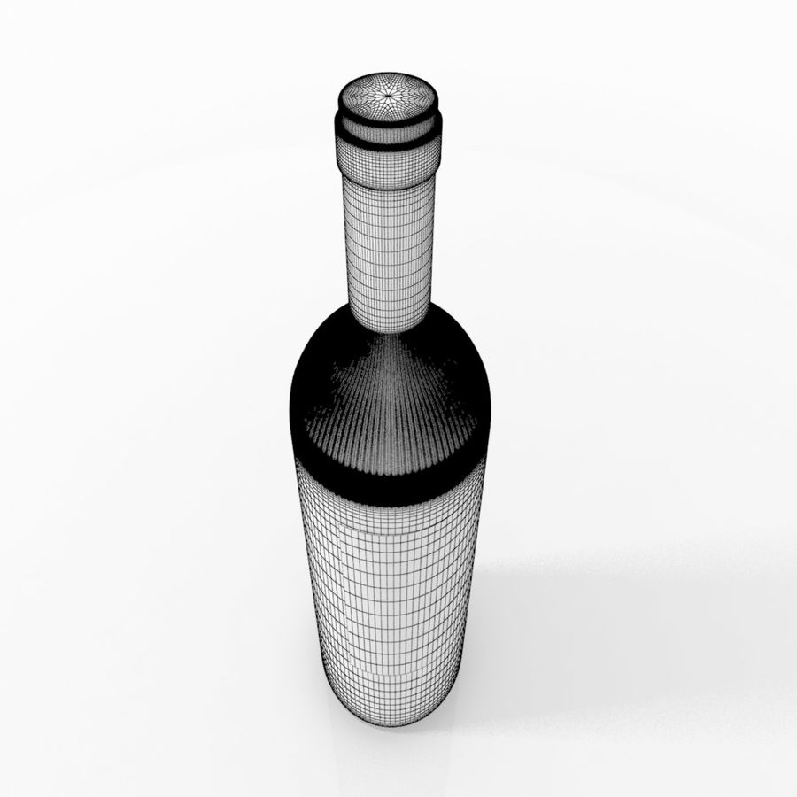 Weinflasche royalty-free 3d model - Preview no. 7