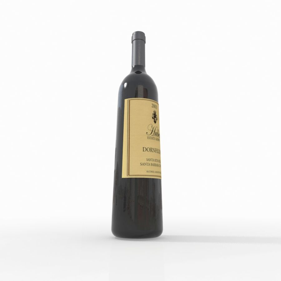 Wine Bottle royalty-free 3d model - Preview no. 10