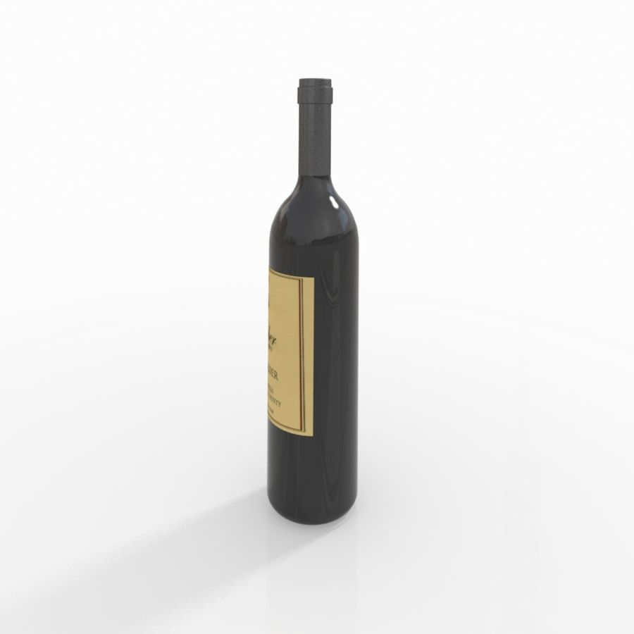 Wine Bottle royalty-free 3d model - Preview no. 9