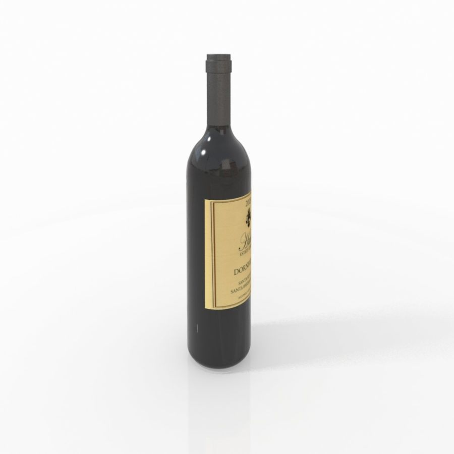 Wine Bottle royalty-free 3d model - Preview no. 1