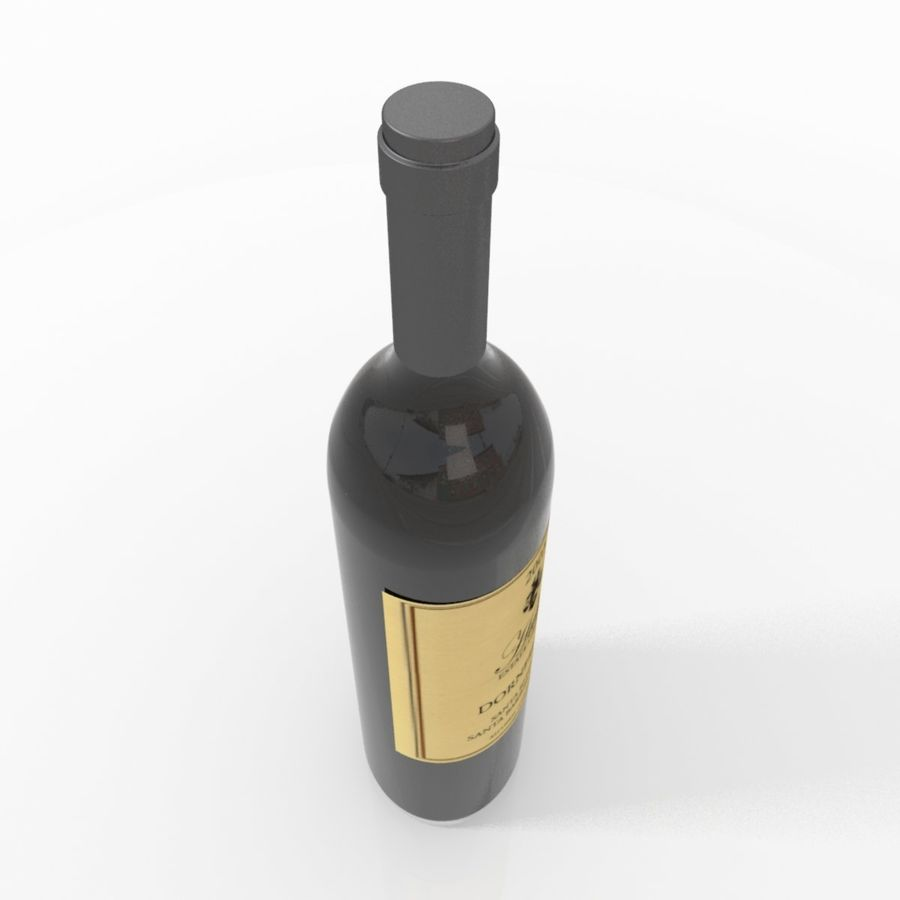 Wine Bottle royalty-free 3d model - Preview no. 11