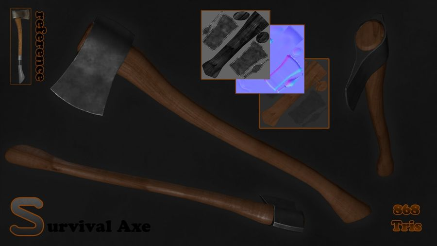 Axe royalty-free 3d model - Preview no. 2