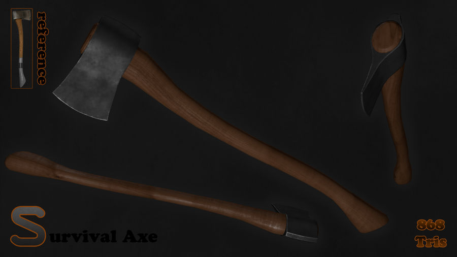 Axe royalty-free 3d model - Preview no. 3