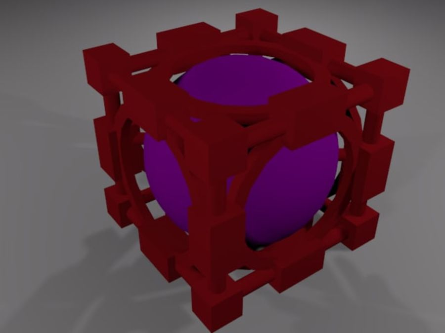 Abstracte kubus royalty-free 3d model - Preview no. 2