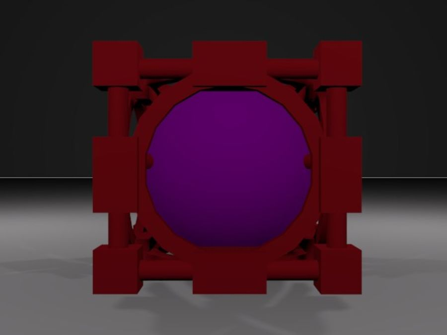 Abstracte kubus royalty-free 3d model - Preview no. 3