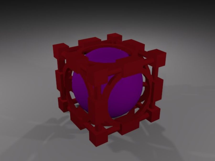 Abstracte kubus royalty-free 3d model - Preview no. 1