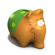 货币银行 3d model