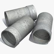 Tubo di cemento 3d model