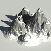 Conjunto de construcción de montaña modelo 3d