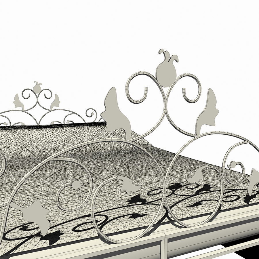 Forged Bed 1v royalty-free 3d model - Preview no. 9